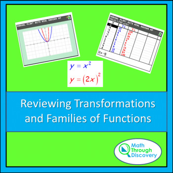 Reviewing Transformations and Families of Functions