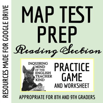 MAP Test Prep Game for 8th & 9th Grade (Reading Section)