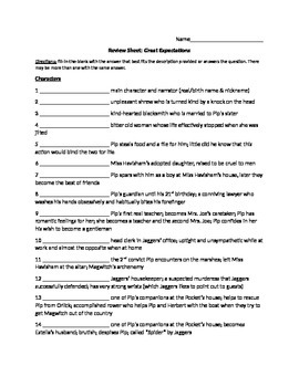 Review Sheet Great Expectations