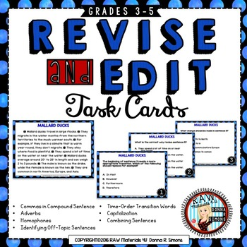 Revise Edit - Practice Effective Closing, Transitional Words, Commas