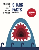 Revise & Edit Task Cards: Shark Edition