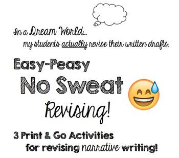 Revise Narrative Writing - 3 Print & Go Resources