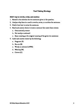 Revise Sentences 4th Grade Part 2