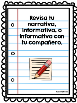 Revise Writing in Spanish/ Revisa Escritura