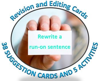Revise and Edit: 38 cards with revision and editing suggestions plus activities