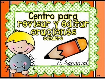Revise and Edit Center October in SPANISH