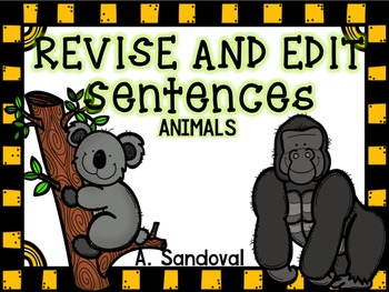 Revise and Edit Center in ENGLISH ANIMALS
