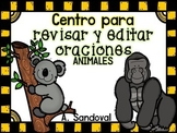 Revise and Edit Center  in Spanish ANIMALS