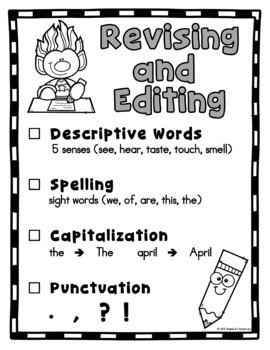 Revising & Editing - Great for Thanksgiving and Christmas writing activities!