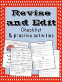 Revise and Edit Checklist and Practice Activities