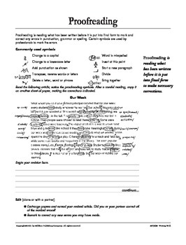 Revise and Edit (CCSS W.7.5)