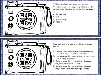 Revise and Edit Task Cards with QR Codes