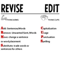 Revise and Edit Overhead Transparencies/Printables/Anchor Charts