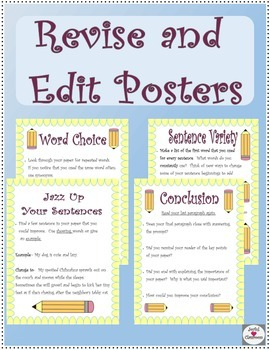 Expository Writing- Revise and Edit Posters