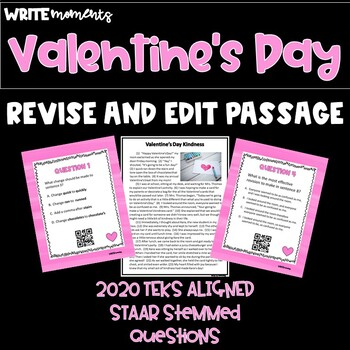 Revise and Edit Valentine's Task Cards