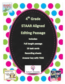 Revise and Editing Passage - STAAR Aligned
