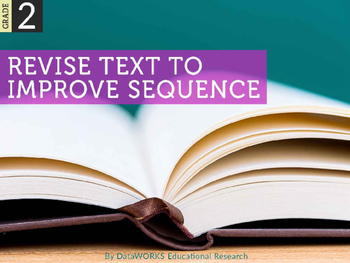 Revise text to improve sequence