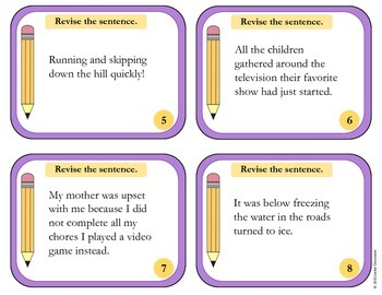 Revise the Sentence Task Cards