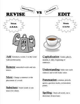 Revise vs. Edit T-Chart
