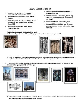 AP Art History Test: Gothic and 14th Century Italian (18 &19)