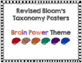 Revised Bloom's Taxonomy Posters Brain Power Theme