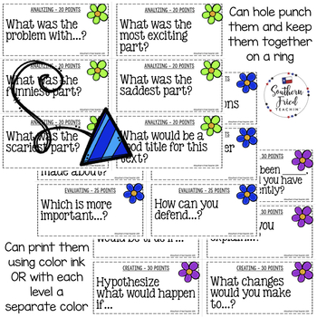 Bloom's Question Stems