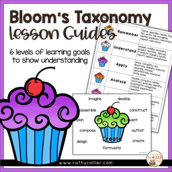 Revised Bloom's Questions Guide - Cupcakes