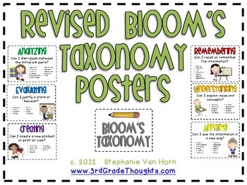 Revised Bloom's Taxonomy Bundle {Posters + Fiction Brochures}