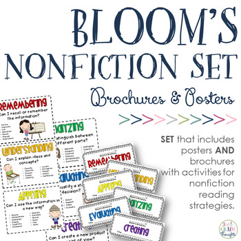 Revised Bloom's Taxonomy Bundle {Posters + Nonfiction Brochures}