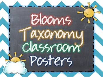 Revised Bloom's Taxonomy Classroom Posters {Chalkboard and Chevron Themed}