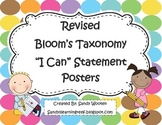 "Bloom's Taxonomy ""I Can"" Statement Posters for Higher Order Thinking"