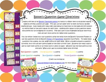 """Bloom's Taxonomy """"I Can"""" Statement Posters for Higher Order Thinking"""