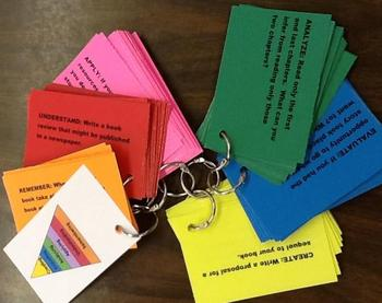 Revised Blooms Taxonomy Literature Response Cards