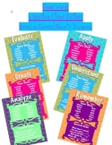 Revised Bloom's Taxonomy Power Words & Questions Posters