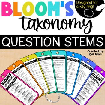 Revised Blooms Taxonomy Question Stem for Key Ring