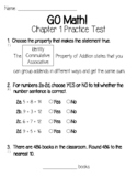 GO Math Chapter 1 Test and Practice Test-3rd Grade