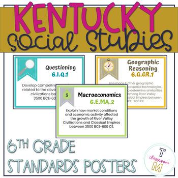 6th Grade Social Studies Standards for New Kentucky Academic Standards 2019