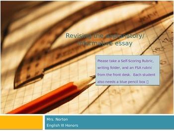 Revising Argumentative Essay