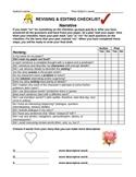 Revising Checklist for Narratives