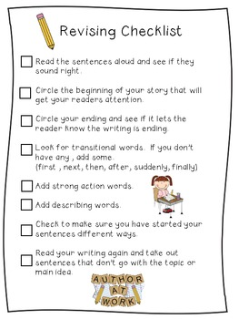 Revising Checklist for Writers