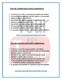 STAAR Revising Checklist in Spanish for Expository Writing - Lista para revisar