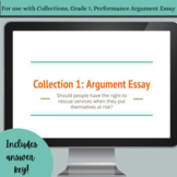 Revising Claims, Reasons, and Evidence - Collections 7, Unit 1, Argument Essay