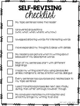 Revising & Editing Checklist