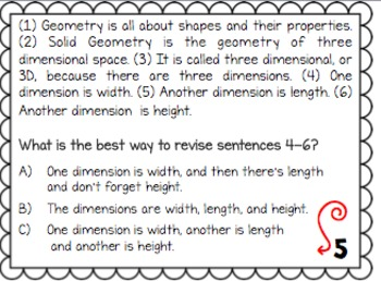 WRITING TEST PREP: Revising & Editing Combining Sentences