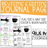 Revising & Editing Notebook Page