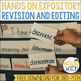 Revising & Editing in one Paragraph a Week: Expository Freebie!