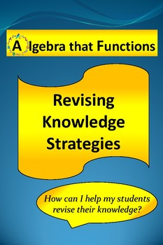Revising Knowledge Graphic Organizers