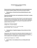 Revising Narrative and Personal Writing