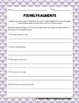 Revising Fragments and Run-ons: Practice Worksheet