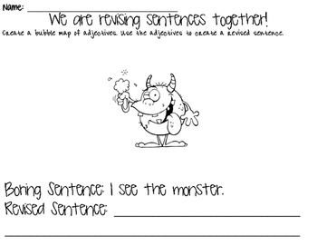 Revising Sentences- Adding Adjectives!